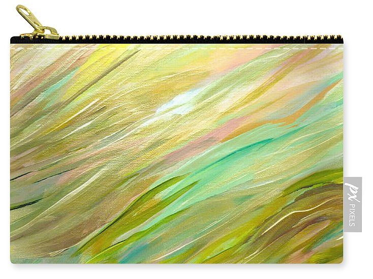 Abstract Carry-all Pouch featuring the painting Sweeping by Sara Credito