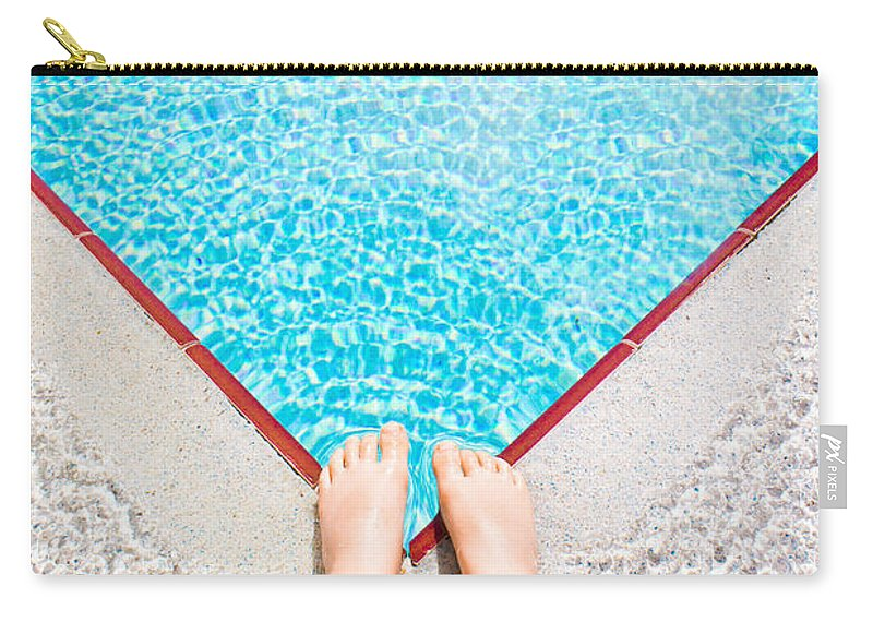 Ankles Carry-all Pouch featuring the photograph Swimming Pool by Tom Gowanlock