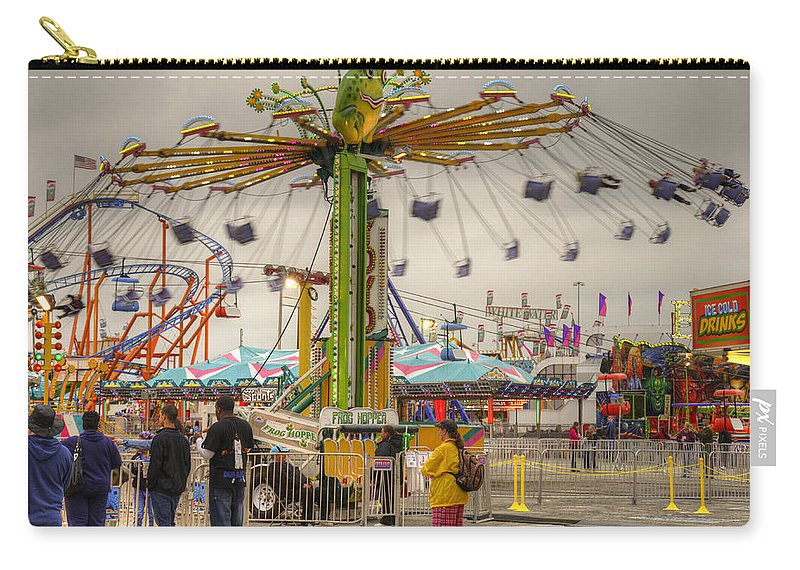 Fair Carry-all Pouch featuring the photograph Swinging by Ricky Barnard