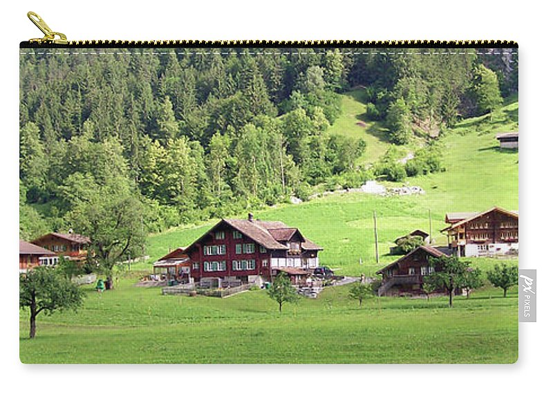 Europe Carry-all Pouch featuring the photograph Swiss Village In The Alps by Greg Plamp