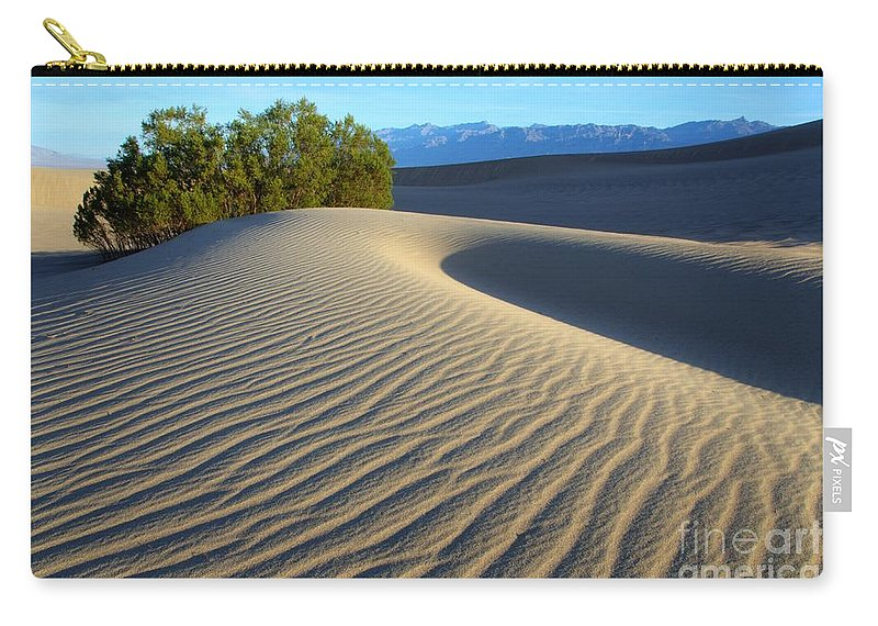 Death Valley Carry-all Pouch featuring the photograph Symphony Of The Sand by Bob Christopher