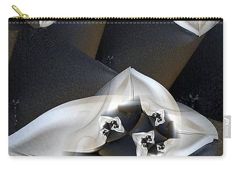 Fractal Carry-all Pouch featuring the digital art Synodial Joints by Ron Bissett