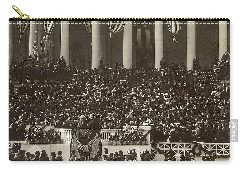 1905 Carry-all Pouch featuring the photograph T. Roosevelt Inauguration by Granger