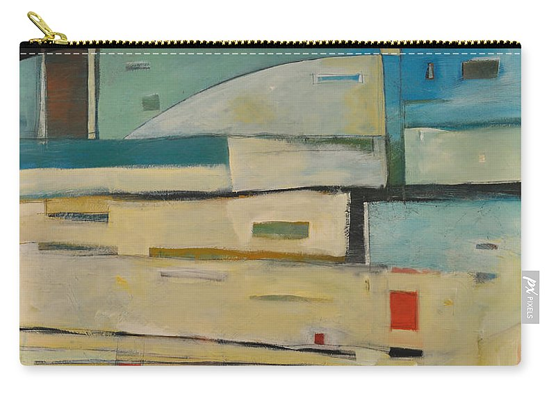 Abstract Carry-all Pouch featuring the painting Take Me Right Back To The Track Jack by Tim Nyberg
