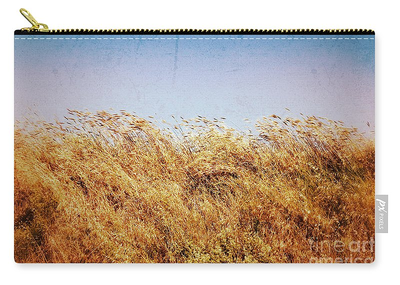 Grass Carry-all Pouch featuring the photograph Tall Grass In The Wind by Silvia Ganora