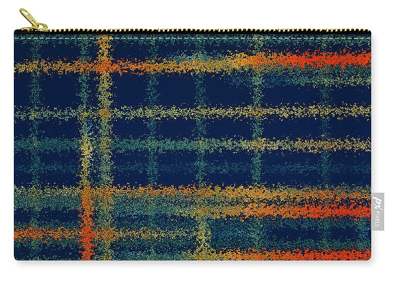 Abstract Carry-all Pouch featuring the painting Tangerine Plaid by Bonnie Bruno
