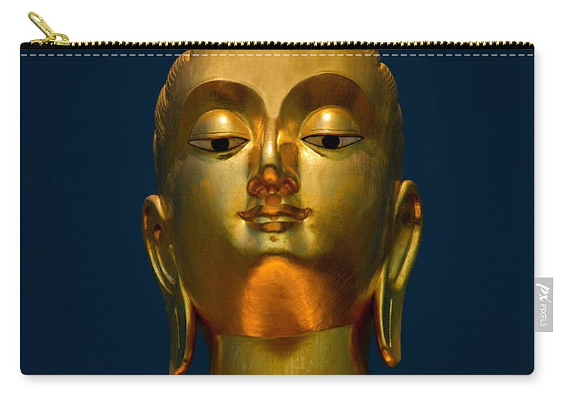 Temple Carry-all Pouch featuring the photograph Tangsai Buddha by Adrian Evans