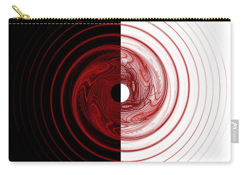 Fractal Carry-all Pouch featuring the digital art Target by Betsy Knapp