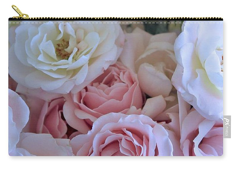Rose Carry-all Pouch featuring the photograph Tea Time Roses by Carol Groenen