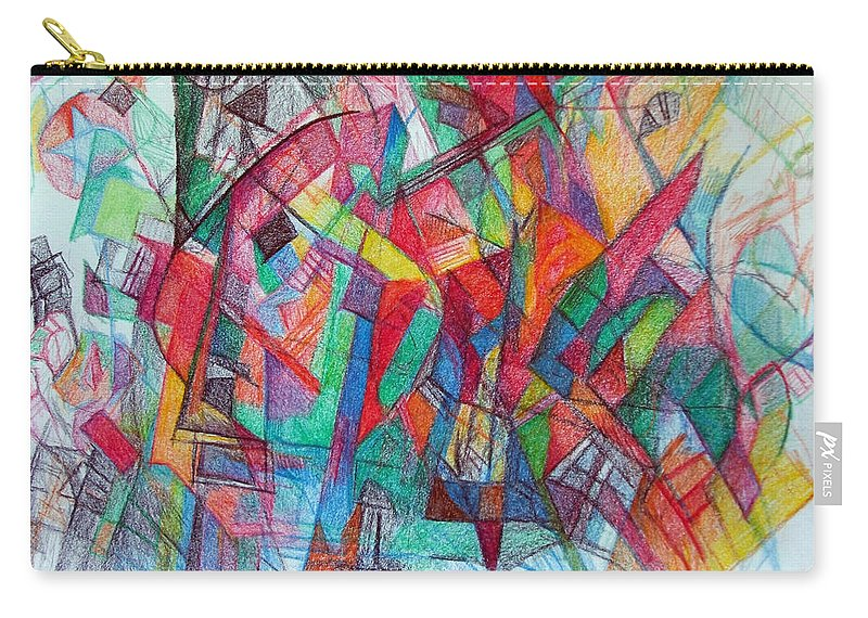 Jewish Art Carry-all Pouch featuring the drawing Teach Me To Have Mercy by David Baruch Wolk