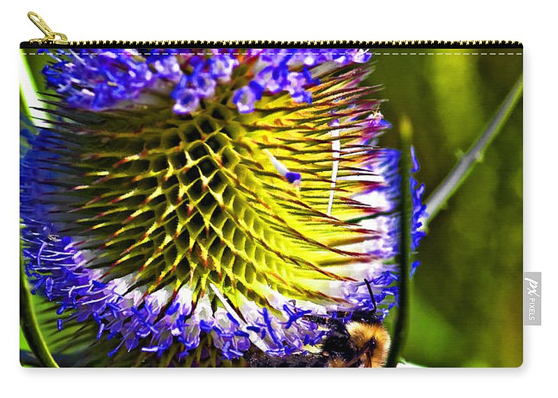 Bee Carry-all Pouch featuring the photograph Teammates II by Steve Harrington
