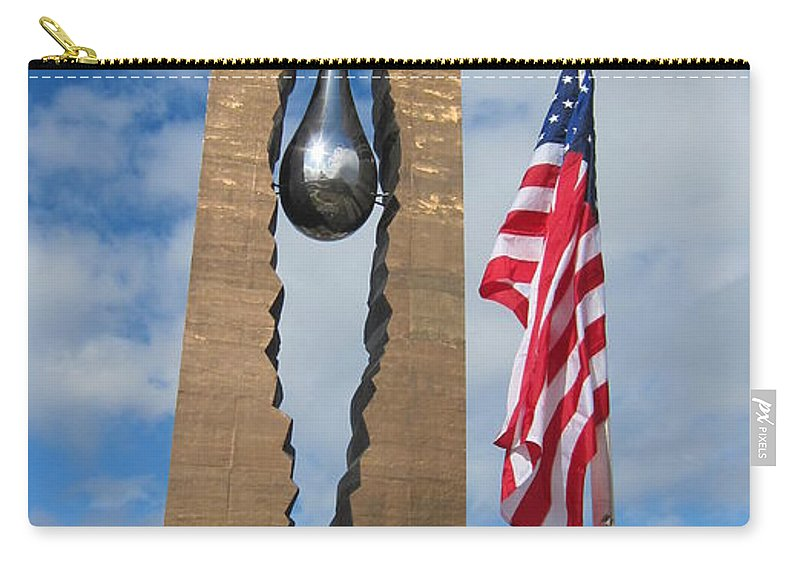 Memorial Carry-all Pouch featuring the photograph Teardrop Memorial by Stefa Charczenko