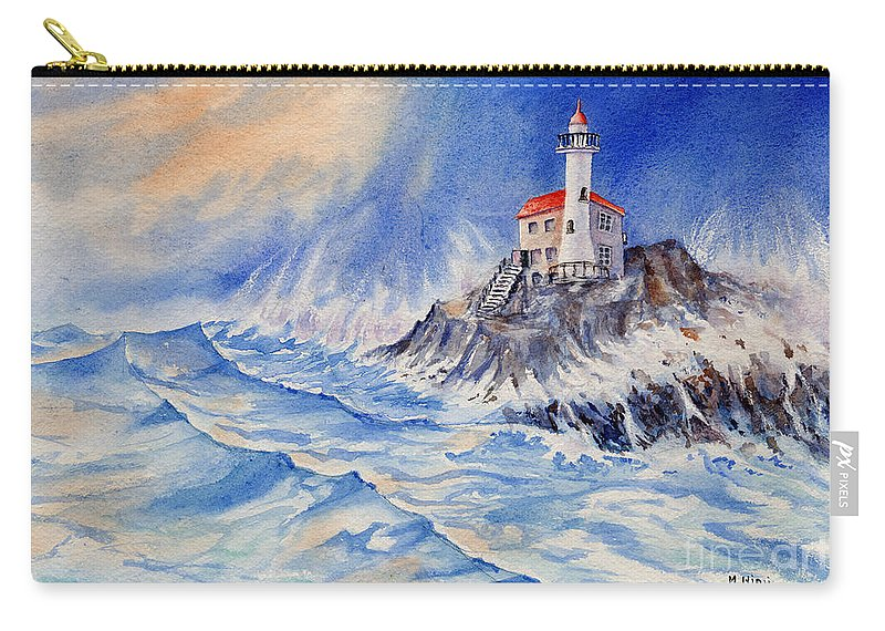 Carry-all Pouch featuring the painting Tempest by Mohamed Hirji