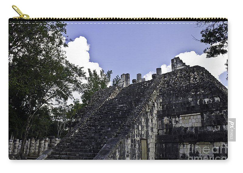 Chichen Itza Carry-all Pouch featuring the photograph Temple Of The Warriors Three by Ken Frischkorn