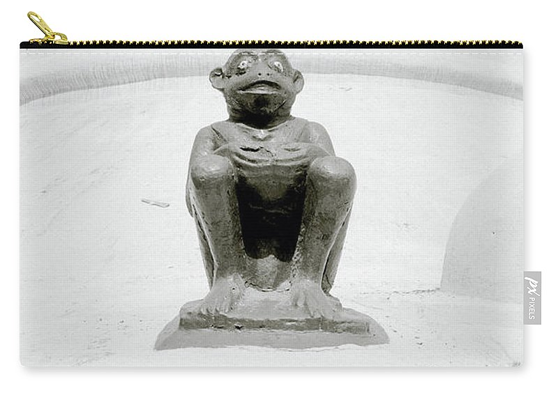 Devil Carry-all Pouch featuring the photograph Temple Devil by Shaun Higson