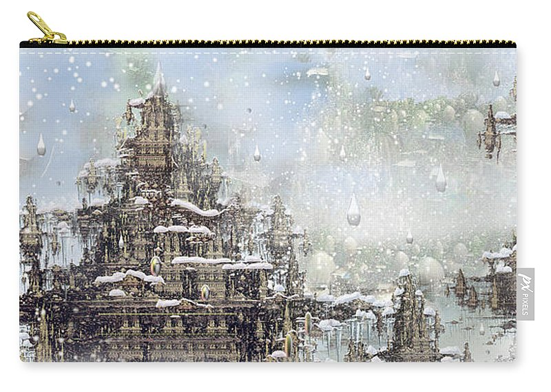 Phil Sadler Carry-all Pouch featuring the digital art Temples Of The North by Phil Sadler