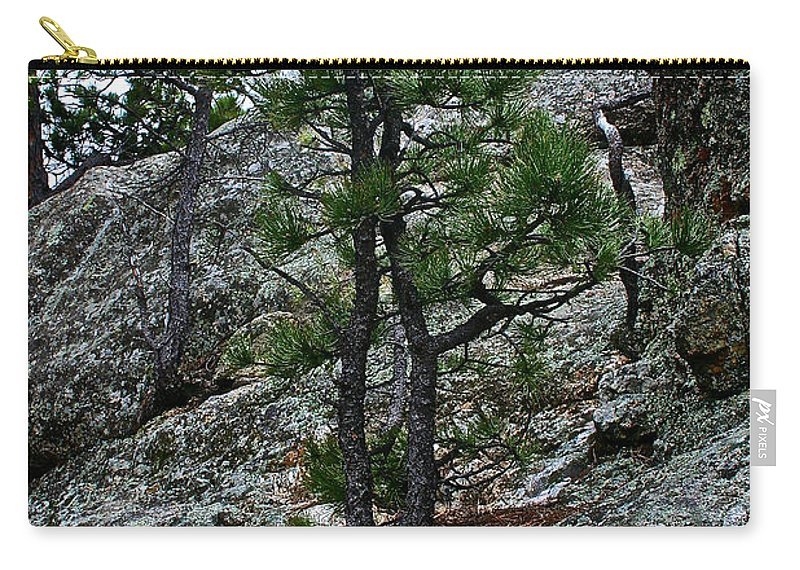 Pine Tree Carry-all Pouch featuring the sculpture Tenacious by Susan Herber