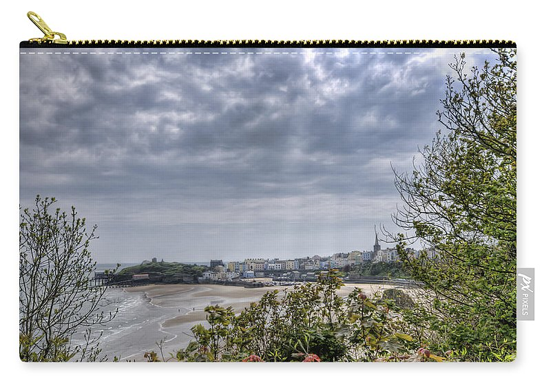 Enby Pembrokeshire Carry-all Pouch featuring the photograph Tenby Pembrokeshire by Steve Purnell