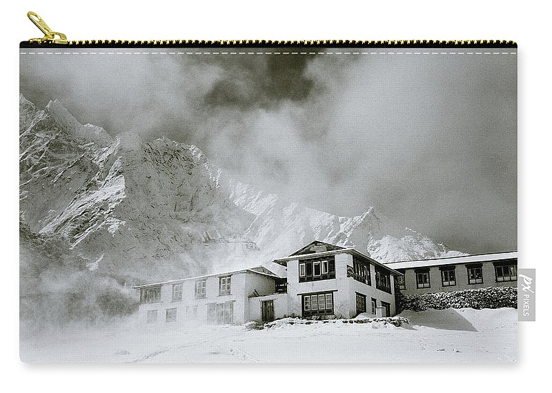 Tengboche Carry-all Pouch featuring the photograph Tengboche Monastery In The Himalaya by Shaun Higson