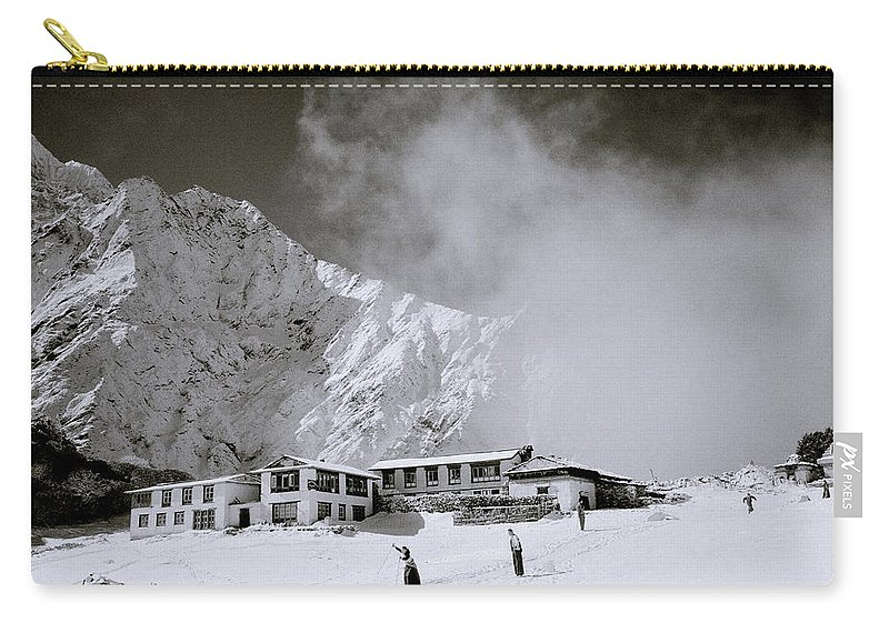 Himalaya Carry-all Pouch featuring the photograph Tengboche Monastery by Shaun Higson