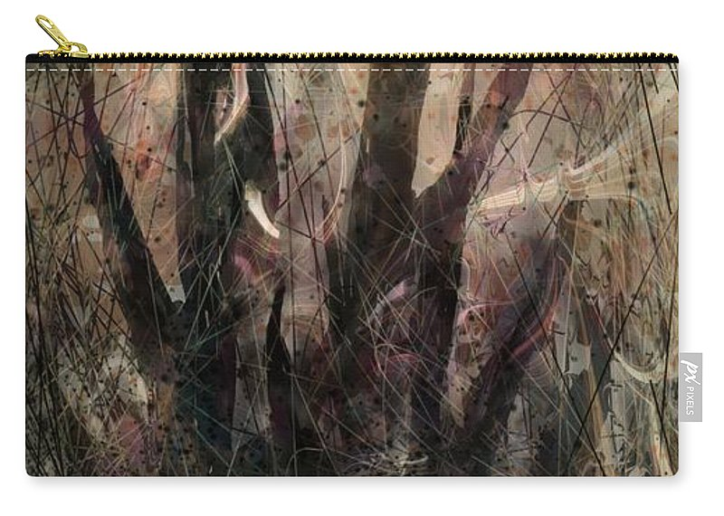 Landscape Carry-all Pouch featuring the digital art Tequila Sunrise by William Russell Nowicki