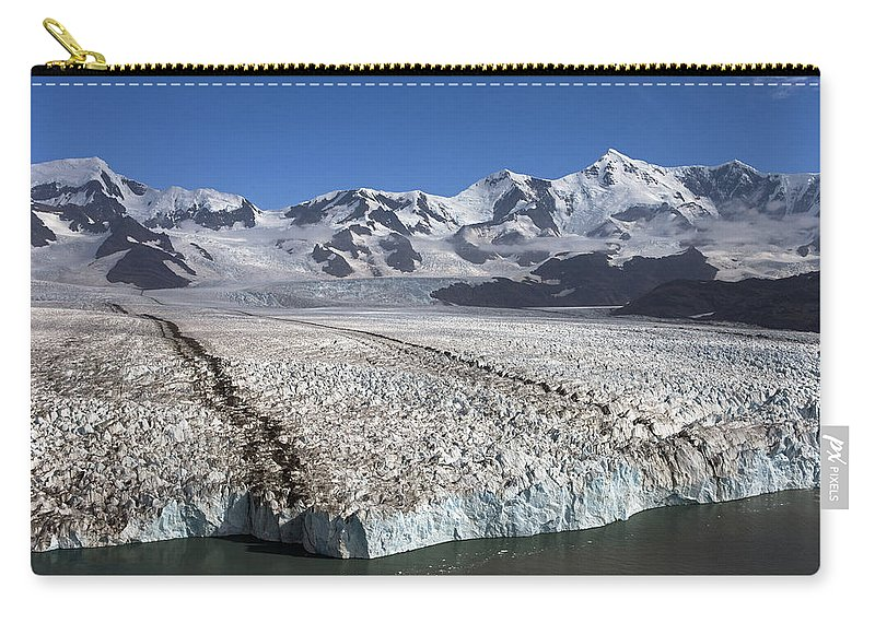 Mp Carry All Pouch Featuring The Photograph Terminal Moraine Of Nordenskjold By Ingo Arndt