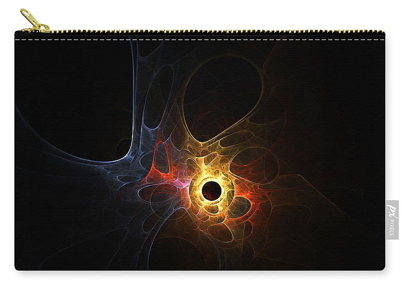 Fractal Abstract Light Lights Plasma Cosmic Universe Expressionism Impressionism Modern Art Color Colorful Motion Energy Bubble Bubbles Hole Holes Space Outer Carry-all Pouch featuring the digital art Terra Nova by Steve K