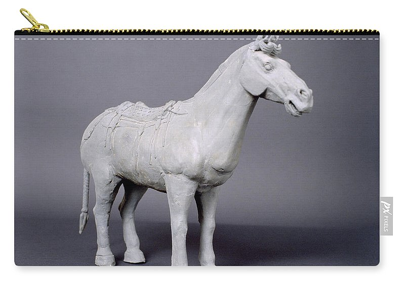 Terracotta Horse Carry-all Pouch featuring the photograph Terracotta Horse by Shaun Higson