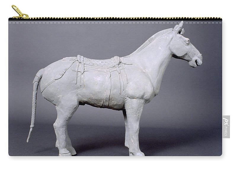Terracotta Horse Carry-all Pouch featuring the photograph Terracotta Warrior's Horse by Shaun Higson
