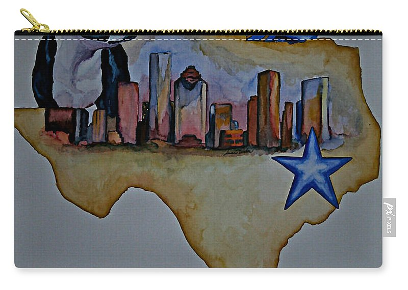 Carry-all Pouch featuring the painting Texas Bound 3 by Susan Herber