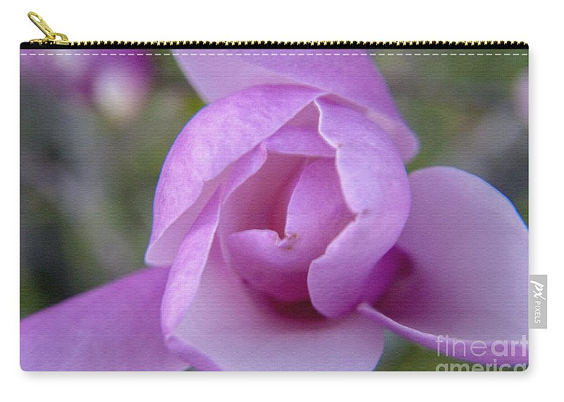 Flower Carry-all Pouch featuring the photograph Textured Flowerr by Darleen Stry