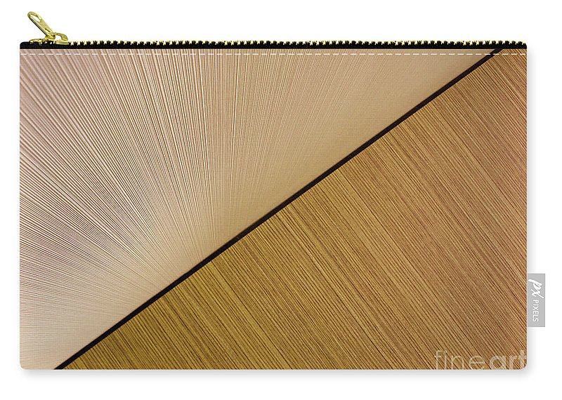 Abstract Carry-all Pouch featuring the photograph Textures. Beige. by Ausra Huntington nee Paulauskaite