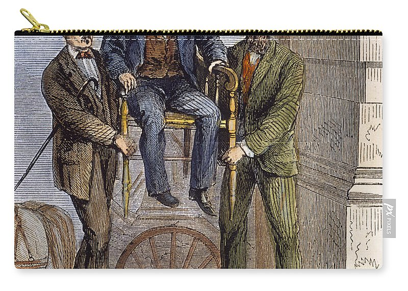 1868 Carry-all Pouch featuring the photograph Thaddeus Stevens, 1868 by Granger