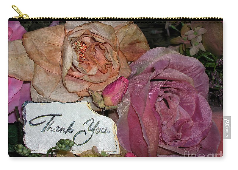Thank You Carry-all Pouch featuring the photograph Thank You by Anthony Wilkening