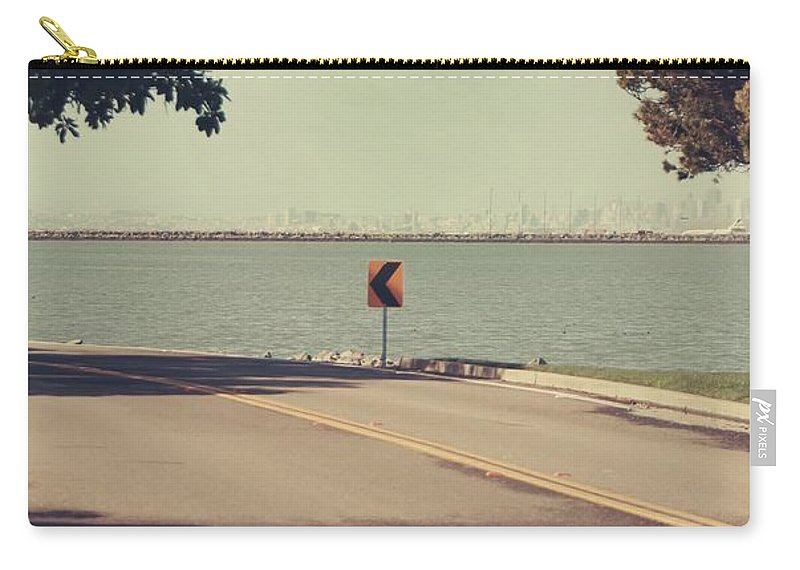 Roads Carry-all Pouch featuring the photograph Thatta Way by Laurie Search