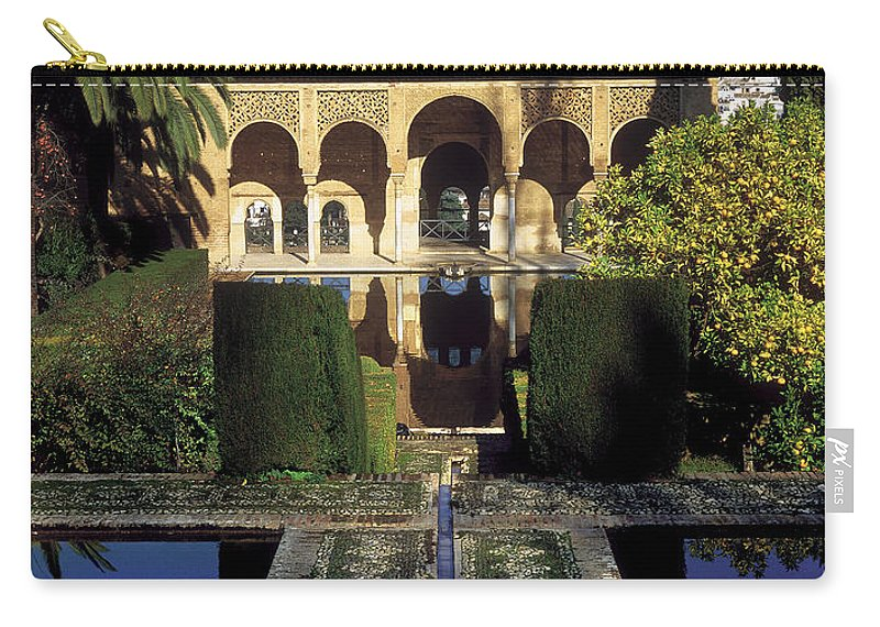 Partal Carry-all Pouch featuring the photograph The Alhambra Palace Of The Partal by Guido Montanes Castillo