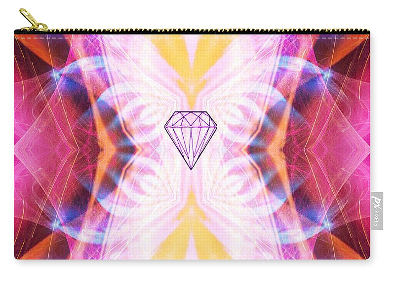 Angel Carry-all Pouch featuring the digital art The Angel Of Confidence And Self Worth by Diana Haronis