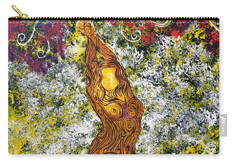 Tree Carry-all Pouch featuring the painting The Angel Tree by Stefan Duncan
