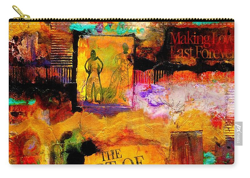 Acrylic Carry-all Pouch featuring the mixed media The Art Of Loving by Angela L Walker