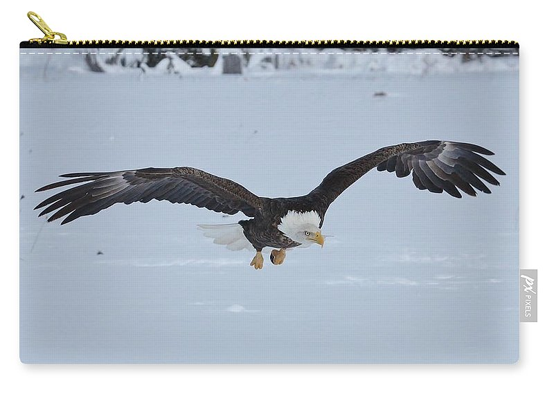 Bald Eagle Carry-all Pouch featuring the photograph The Attack by Teresa McGill