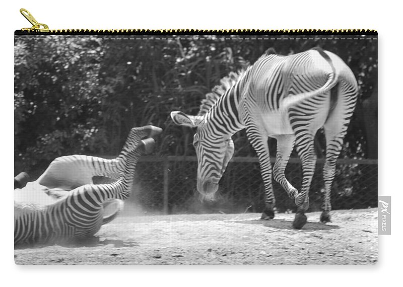 Animal Carry-all Pouch featuring the photograph The Back End In Black And White by Rob Hans
