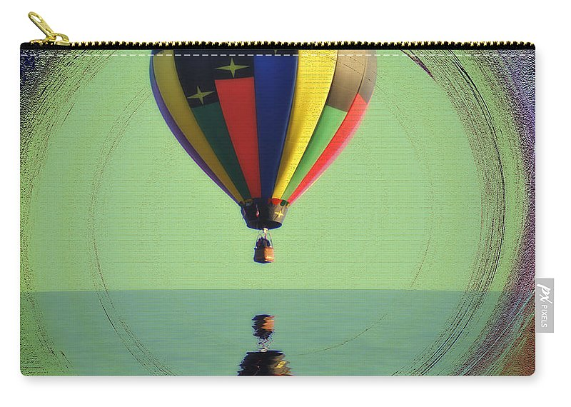 Balloon Carry-all Pouch featuring the photograph The Balloon And The Sea by Bill Cannon