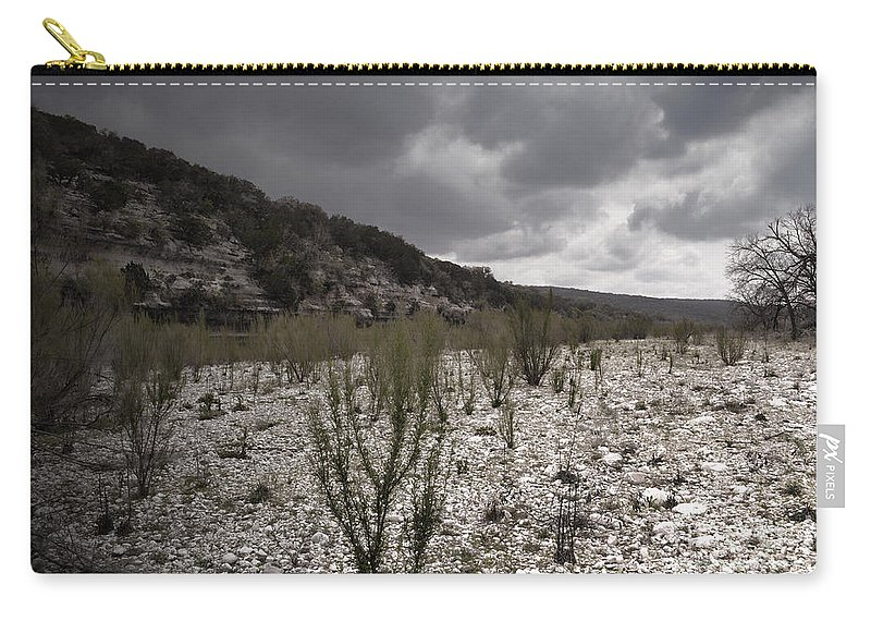 River Carry-all Pouch featuring the photograph The Bank Of The Nueces River by Donna Greene