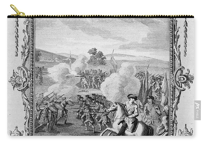 1746 Carry-all Pouch featuring the photograph The Battle Of Culloden by Granger