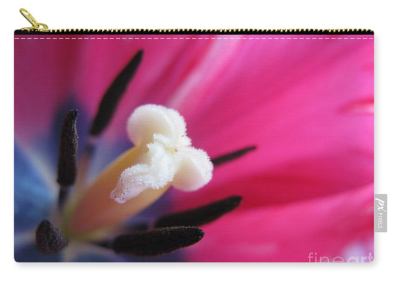 Flower Carry-all Pouch featuring the photograph The Beauty From Inside by Ausra Huntington nee Paulauskaite