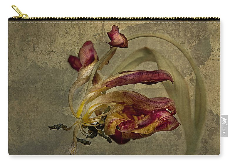 Tulip Carry-all Pouch featuring the photograph The Beauty Never Dies by Claudia Moeckel