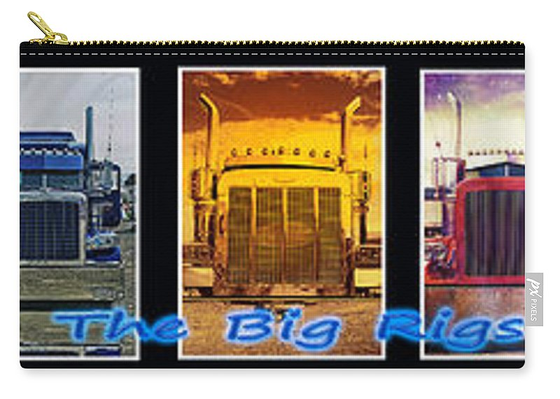 Trucks Carry-all Pouch featuring the photograph The Big Rigs Group Pic by Randy Harris