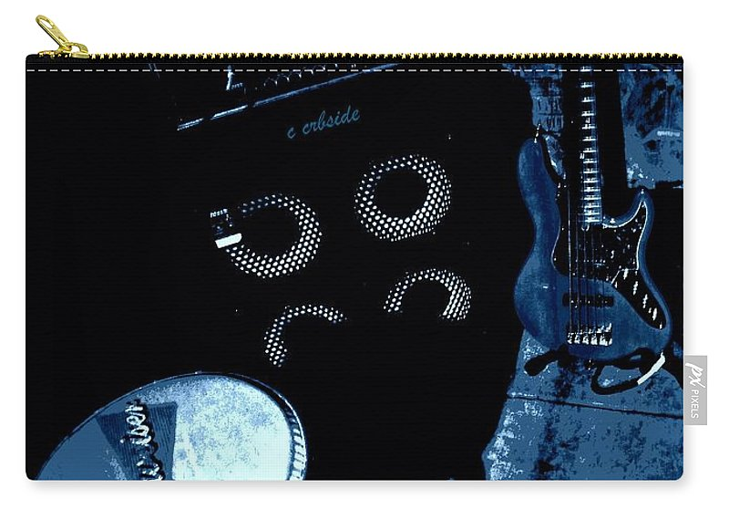 Musical Carry-all Pouch featuring the photograph The Blues Corner by Chris Berry