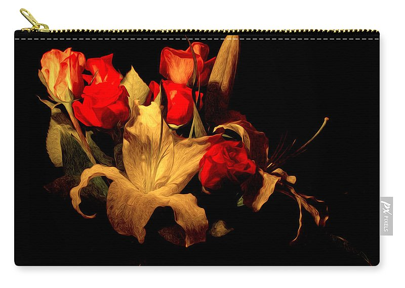 Design Carry-all Pouch featuring the photograph The Bouquet by Jean Noren