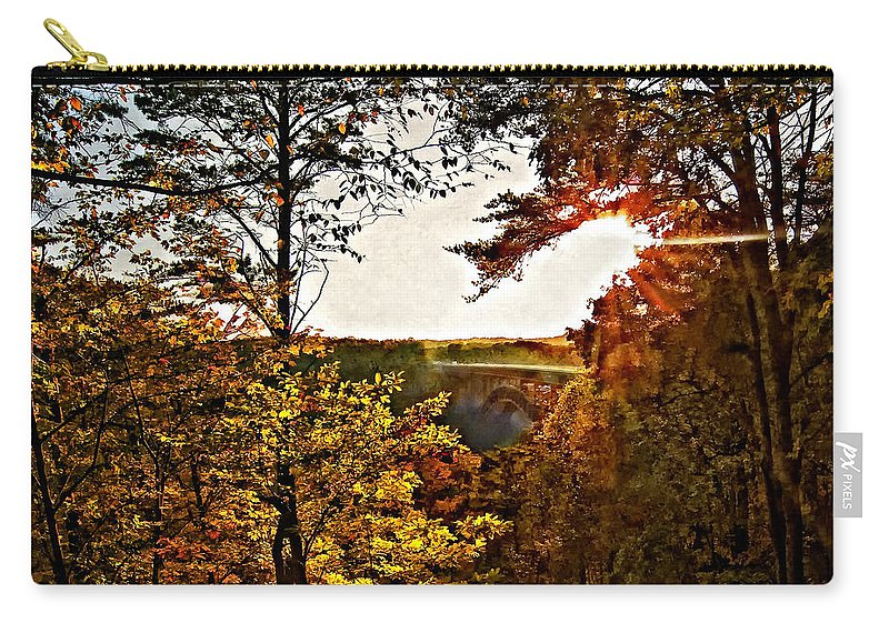 Bridge Carry-all Pouch featuring the photograph The Bridge by Steve Harrington